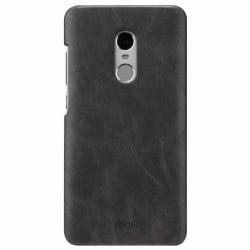 Xiaomi Redmi Note 4X Σκληρή Θήκη Με Ανθρακί Δερμάτινη Πλάτη Mofi Leather Hard Case Dark Grey