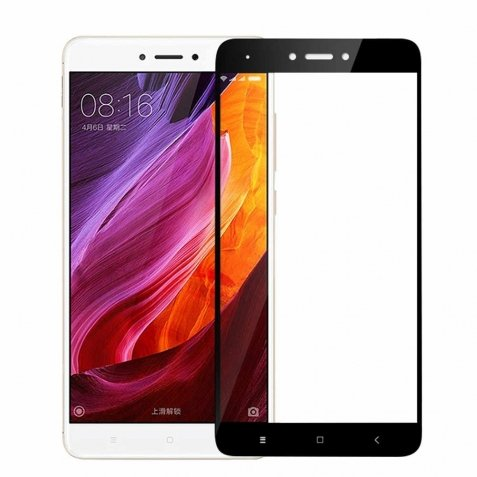 Xiaomi Redmi Note 4X Mofi Προστατευτικό Τζαμάκι Μαύρο 9H Hardness 2.5D Explosion-Proof Full Screen Film Black