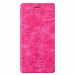 Xiaomi Redmi Note 4 Θήκη Βιβλίο Φούξια Mofi Vintage Leather Book Case Fuchsia