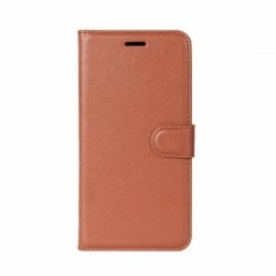 Samsung Galaxy J7 2017 Θήκη Βιβλίο Καφέ Litchi Texture Horizontal Flip Leather Case with Holder & Card Slots