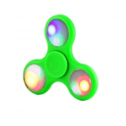 Fidget Spinner Anti Stress LED Light 3 Χρώματα Green 1,5 Minutes Plastic OEM