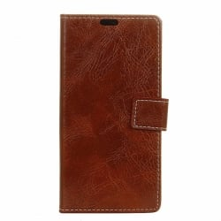 Samsung Galaxy J7 2017 Θήκη Βιβλίο Καφέ Retro Crazy Horse Texture Horizontal Flip Leather Case with Holder & Card