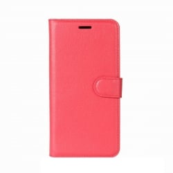 Samsung Galaxy J3 2017 Θήκη Βιβλίο Κόκκινο Litchi Texture Horizontal Flip Leather Case With Holder & Card Slots Red