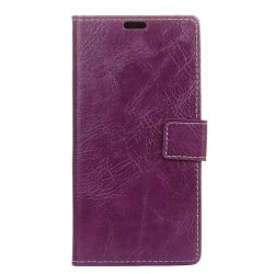 Samsung Galaxy J5 2017 Θήκη Βιβλίο Μωβ Retro Crazy Horse Texture Horizontal Flip Leather Case With Holder & Card Purple