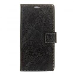 Samsung Galaxy J3 2017 Θήκη Βιβλίο Μαύρο Retro Crazy Horse Texture Horizontal Flip Leather Case With Holder & Card Black