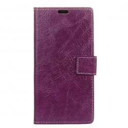 Samsung Galaxy J7 2017 Θήκη Βιβλίο Μωβ Retro Crazy Horse Texture Horizontal Flip Leather Case With Holder & Card Purple