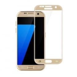 Samsung Galaxy S7 ENKAY Εμπρός και Πλάγια Χρυσό 9H 2,5D Full Cover / Curved Gold Προστατευτικό Τζαμάκι Tempered Glass