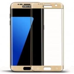 Samsung Galaxy S7 edge ENKAY Εμπρός και Πλάγια Full Cover / Curved Gold Προστατευτικό Τζαμάκι Tempered Glass