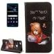 Huawei P10 Lite Θήκη Βιβλίο Θυμωμένο Αρκουδάκι Book Case
