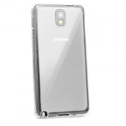 Samsung Galaxy J7 2017 Θήκη Σιλικόνης Διάφανη Με Ασημί Περίγραμμα J730 Silicone Clear Case Silver