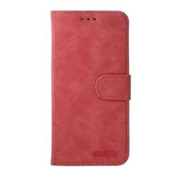 Huawei P10 Lite ENKAY Δερμάτινη Θήκη Βιβλίο Κόκκινο Flip Leather Case With Holder & Card Slots & Wallet Red