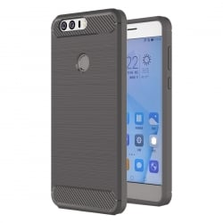 Huawei Honor 8 HAWEEL Brushed 2 Carbon Fiber Θήκη Σιλικόνης Γκρι Silicone Case Grey