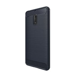 Nokia 6 HAWEEL Brushed 2 Carbon Fiber Θήκη Σιλικόνης Σκούρο Μπλε Silicone Case Dark Blue