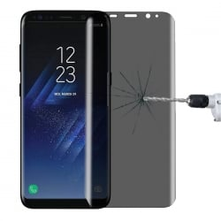 Samsung Galaxy S8+ Plus Φιμέ 3D HD Anti-Fingerprint Full Screen 9H Προστατευτικό Τζαμάκι Tempered Glass Grey - Clear