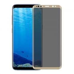 Samsung Galaxy S8 ΦΙΜΕ 9H Surface Hardness 3D Full Screen Μαύρο Προστατευτικό Τζαμάκι Tempered Glass Gold