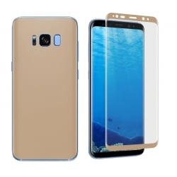 Samsung Galaxy S8 0.1mm Full Curved Front + Back Soft Full Screen Protector Gold Χρυσό