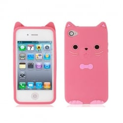 Silicon 3D Case Kitty for Mic Lumia 550 pink