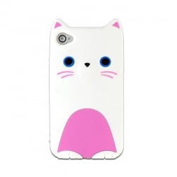 Θήκη Σιλικόνης Lumia 550 Silicone 3D Case Kitty White