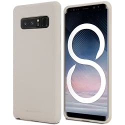 Samsung Galaxy Note 8 Goospery Soft Feeling Θήκη Σιλικόνης Γκρι Silicone Case Stone