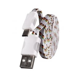 Micro Usb Με Φως - Usb Cable with LED Light 1 M White