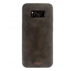 Samsung Galaxy S8 Mofi Θήκη Σκούρο Καφέ TPU Leather Case Dark Brown