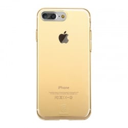 iPhone 7 Plus / 8 Plus Baseus Θήκη Σιλικόνης Χρυσή / Διάφανη Silicone Case Gold / Transparent