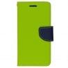 LG G4 Θήκη Βιβλίο Λαχανί - Μπλε Fancy Book Case Telone Lime - Navy