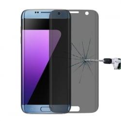 Samsung Galaxy S7 Edge Φιμέ 3D HD Anti-Fingerprint Full Screen 9H Προστατευτικό Τζαμάκι Tempered Glass Grey - Clear