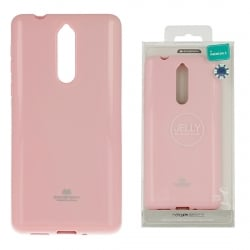 Nokia 8 Goospery Jelly Case Θήκη Σιλικόνης Απαλό Ροζ Silicone Case Light Pink