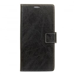 Huawei P Smart Θήκη Βιβλίο Μαύρο Retro Crazy Horse Texture Horizontal Flip Leather Case With Holder & Card Black
