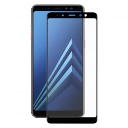 Samsung Galaxy A8 2018 ENKAY 0.26 mm Full Screen Προστατευτικό Τζαμάκι Μαύρο Tempered Glass 9H Surface Hardness 3D Black