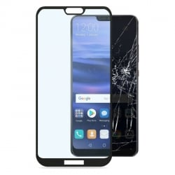 Huawei P20 Lite Full Glue 3D Full Screen Μαύρο Προστατευτικό Τζαμάκι Tempered Glass Black