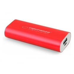 Esperanza Power Bank Hadron Κόκκινο EMP105R 4400mAh Red