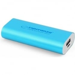 Esperanza Power Bank Hadron Μπλε EMP105B 4400mAh Blue