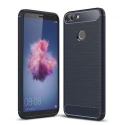 Huawei P Smart Brushed Carbon Θήκη Σιλικόνης Μπλε Silicone Case Blue