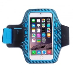 Armband Case Εώς 5,5'' Colorful Sport Με Φωτισμό Led Μπλε Armband Case with LED Lighting