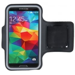 Sport Armband Εως 5.2'' Με Θέση Για Κλειδιά Και HandsFree Case with Earphone Hole and Key Μαύρο