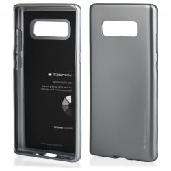 Samsung Galaxy Note 8 Goospery iJelly Case Θήκη Σιλικόνης Γκρι Silicone Case Grey
