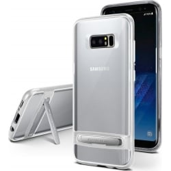 Samsung Galaxy Note 8 Goospery Dream Stand Bumper Case Θήκη Σιλικόνης Διάφανη - Γκρι Silicone Case Silver