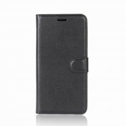 Xiaomi Redmi Note 5 / Note 5 Pro Θήκη Βιβλίο Μαύρο Litchi Texture Horizontal Flip Leather Case With Holder & Card Slots Black