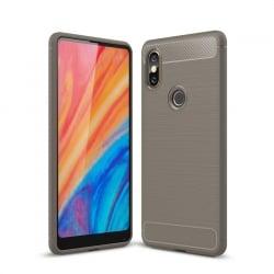 Xiaomi Mi Mix 2S Brushed Carbon Θήκη Σιλικόνης Γκρι Silicone Case Grey
