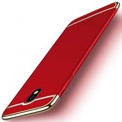 Samsung Galaxy J7 2017 Mofi Ultra-Thin Electroplating Side Protective Σκληρή Θήκη Κόκκινο Με Χρυσό Περίγραμμα Hard Case Red