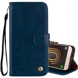 Samsung Galaxy J5 2017 Δερμάτινη Θήκη Βιβλίο Μπλε Business Style Flip Leather Case Blue