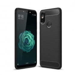 Xiaomi Redmi S2 Brushed Carbon Θήκη Σιλικόνης Μαύρο Silicone Case Black