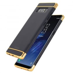 Samsung Galaxy Note 8 Mofi Ultra-Thin Electroplating Side Protective Σκληρή Θήκη Μαύρη Με Χρυσό Περίγραμμα Hard Case Black