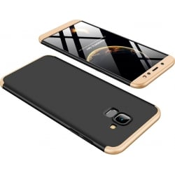 Samsung Galaxy A6 2018 GKK Full Coverage Protective Σκληρή Θήκη Μαύρη - Χρυσό Hard Case Black - Gold