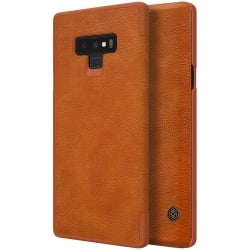 Samsung Note 9 Nillkin Qin Δερμάτινη Flip Leather Case Brown Καφέ
