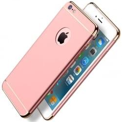 iPhone 6 Plus / 6s Plus Mofi Ultra-Thin Electroplating Side Protective Σκληρή Θήκη Ροζ Με Περίγραμμα Χρυσό Hard Case Rose