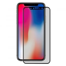 iPhone X Μαύρο - Φιμέ ENKAY 0.26mm 9H Surface Hardness 3D Carbon Fiber Privacy Anti-glare Full Screen Tempered Glass