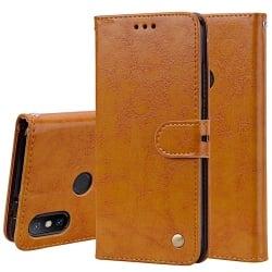 Xiaomi Mi A2 / Mi 6X  Δερμάτινη Θήκη Βιβλίο Καφέ Business Style Flip Leather Case Brown